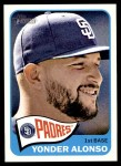 2014 Topps Heritage #313  Yonder Alonso  Front Thumbnail