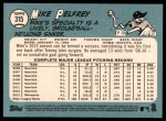 2014 Topps Heritage #315  Mike Pelfrey  Back Thumbnail