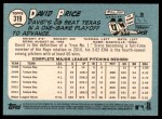 2014 Topps Heritage #319  David Price  Back Thumbnail