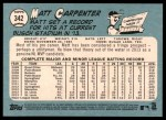 2014 Topps Heritage #342  Matt Carpenter  Back Thumbnail