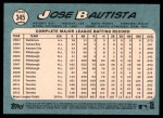 2014 Topps Heritage #345  Jose Bautista  Back Thumbnail