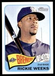 2014 Topps Heritage #353  Rickie Weeks  Front Thumbnail