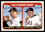 2014 Topps Heritage #361   -  Michael Choice / Jake Marisnick Rookies Front Thumbnail
