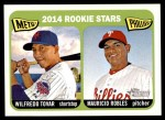 2014 Topps Heritage #374   -  Wilfredo Tovar / Mauricio Robles Rookies Front Thumbnail
