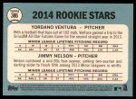2014 Topps Heritage #386   -  Yordano Ventura / Jimmy Nelson Rookies Back Thumbnail