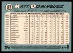 2014 Topps Heritage #388  Matt Dominguez  Back Thumbnail