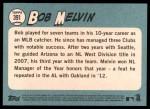 2014 Topps Heritage #391  Bob Melvin  Back Thumbnail