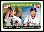 2014 Topps Heritage #398   -  Daniel Webb / Chris Robinson  Rookies Front Thumbnail