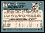 2014 Topps Heritage #401  Jose Lobaton  Back Thumbnail