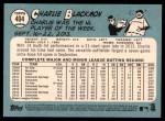 2014 Topps Heritage #404  Charlie Blackmon  Back Thumbnail