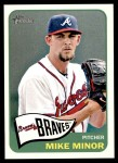 2014 Topps Heritage #411  Mike Minor  Front Thumbnail