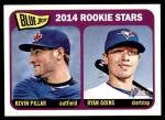 2014 Topps Heritage #421   -  Kevin Pillar / Ryan Goins Blue Jays Rookies Front Thumbnail