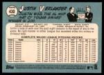 2014 Topps Heritage #430 POR Justin Verlander  Back Thumbnail