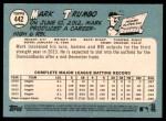 2014 Topps Heritage #442 COR  -  Mark Trumbo All-Star Back Thumbnail