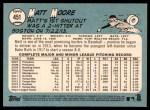 2014 Topps Heritage #451  Matt Moore  Back Thumbnail