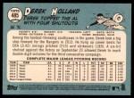 2014 Topps Heritage #485  Derek Holland  Back Thumbnail