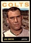 1964 Topps #241  Jim Owens  Front Thumbnail