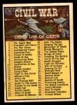1965 A and BC England Civil War News #88   Civil War Checklist Front Thumbnail