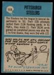 1964 Philadelphia #153   Steelers Team Back Thumbnail