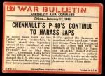 1965 Philadelphia War Bulletin #17   Flying Tigers Back Thumbnail