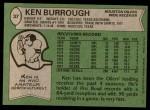 1978 Topps #37  Ken Burrough  Back Thumbnail