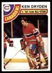 1978 Topps #50  Ken Dryden  Front Thumbnail