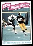1975 Topps #459   -  Lynn Swann  Highlights Front Thumbnail