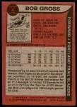 1979 Topps #4  Bob Gross  Back Thumbnail