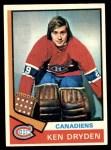 1974 Topps #155  Ken Dryden  Front Thumbnail
