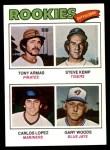 1977 Topps #492   -  Tony Armas / Steve Kemp / Carlos Lopez / Gary Woods Rookie Outfielders   Front Thumbnail