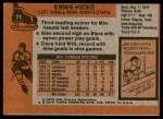 1975 Topps #71  Ernie Hicke   Back Thumbnail