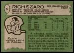 1978 Topps #47  Rich Szaro  Back Thumbnail