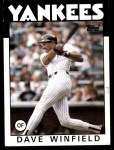 1986 Topps #70  Dave Winfield  Front Thumbnail