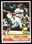 1976 Topps #50  Fred Lynn  Front Thumbnail