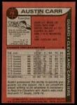 1979 Topps #76  Austin Carr  Back Thumbnail