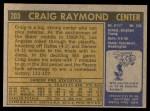 1971 Topps #203  Craig Raymond  Back Thumbnail