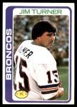 1978 Topps #12  Jim Turner  Front Thumbnail