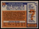 1976 Topps #35  Steve Bartkowski   Back Thumbnail