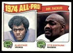 1975 Topps #214   -  Alan Page / Otis Sistrunk All-Pro Defensive Tackles Front Thumbnail