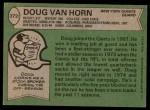 1978 Topps #372  Doug Van Horn  Back Thumbnail