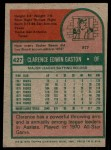 1975 Topps #427  Cito Gaston  Back Thumbnail