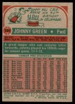 1973 Topps #124  Johnny Green  Back Thumbnail