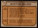 1973 Topps #93   Bruins Team Back Thumbnail