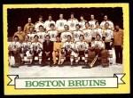 1973 Topps #93   Bruins Team Front Thumbnail