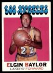 1971 Topps #10  Elgin Baylor   Front Thumbnail