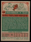 1973 Topps #149  Rich Rinaldi  Back Thumbnail