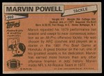 1981 Topps #460  Marvin Powell  Back Thumbnail