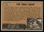 1962 Topps / Bubbles Inc Mars Attacks #26   The Tidal Wave  Back Thumbnail
