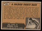 1962 Topps / Bubbles Inc Mars Attacks #18   Soldier Fights Back  Back Thumbnail