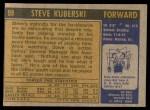 1971 Topps #98  Steve Kuberski   Back Thumbnail